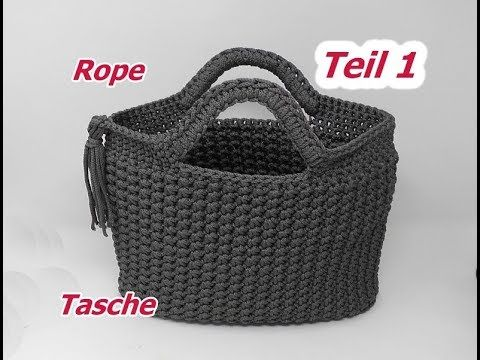 Photo of Crochet bag in ROPE with asterisk mesh – part 1