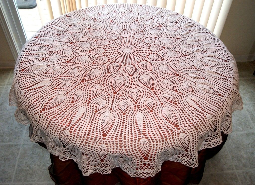 Crochet Pineapple Tablecloth Pattern Free Crochet Round Pineapple