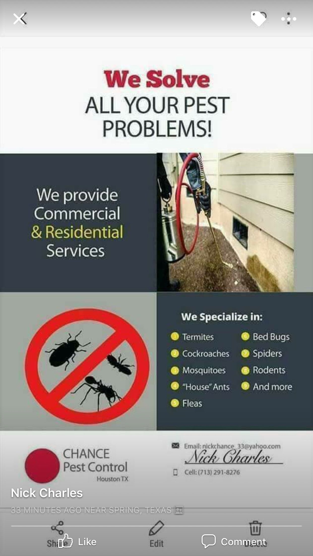 Pin by Teena Hartman on Contacts Pest problem, Ants in