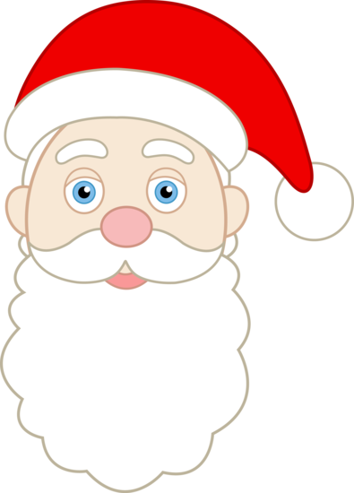 printable santa face pattern face of santa claus free clip art rh pinterest com santa face silhouette clip art cartoon santa face clip art