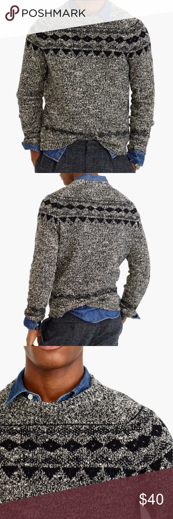 J. Crew Italian Wool Fair Isle Sweater NWT $128 Based on a vintage ...