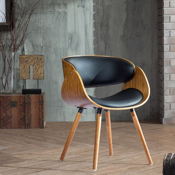 Mid-century Accent Chair by Corvus by Corvus  Wraparound and Plywood