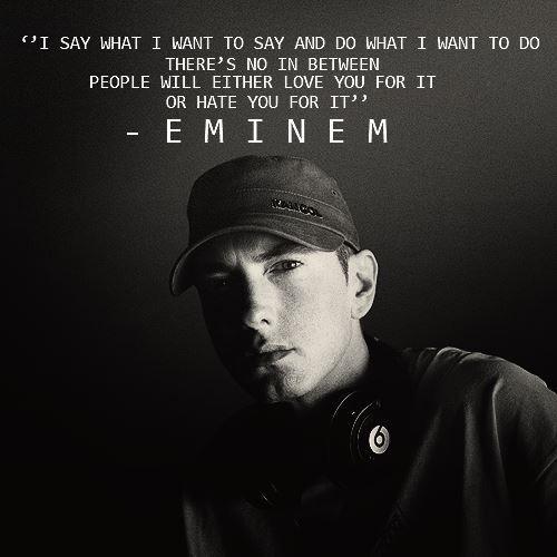 Eminem Quotes All Kinds of Stuff Eminem quotes, Eminem