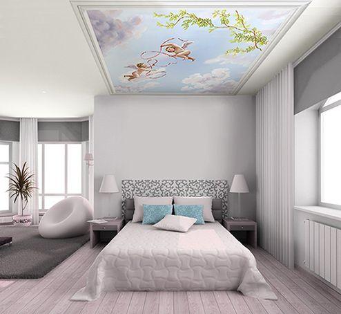 Ciel Et Angelots Pour Plafond Papier Peint Chambre En 2018
