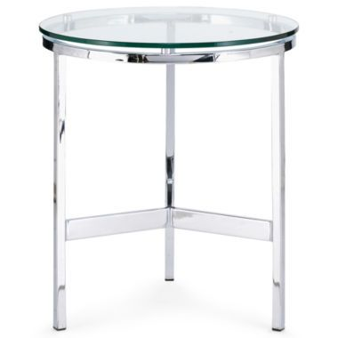 Malone Glass Top 21 Quot Round End Table Found At Jcpenney