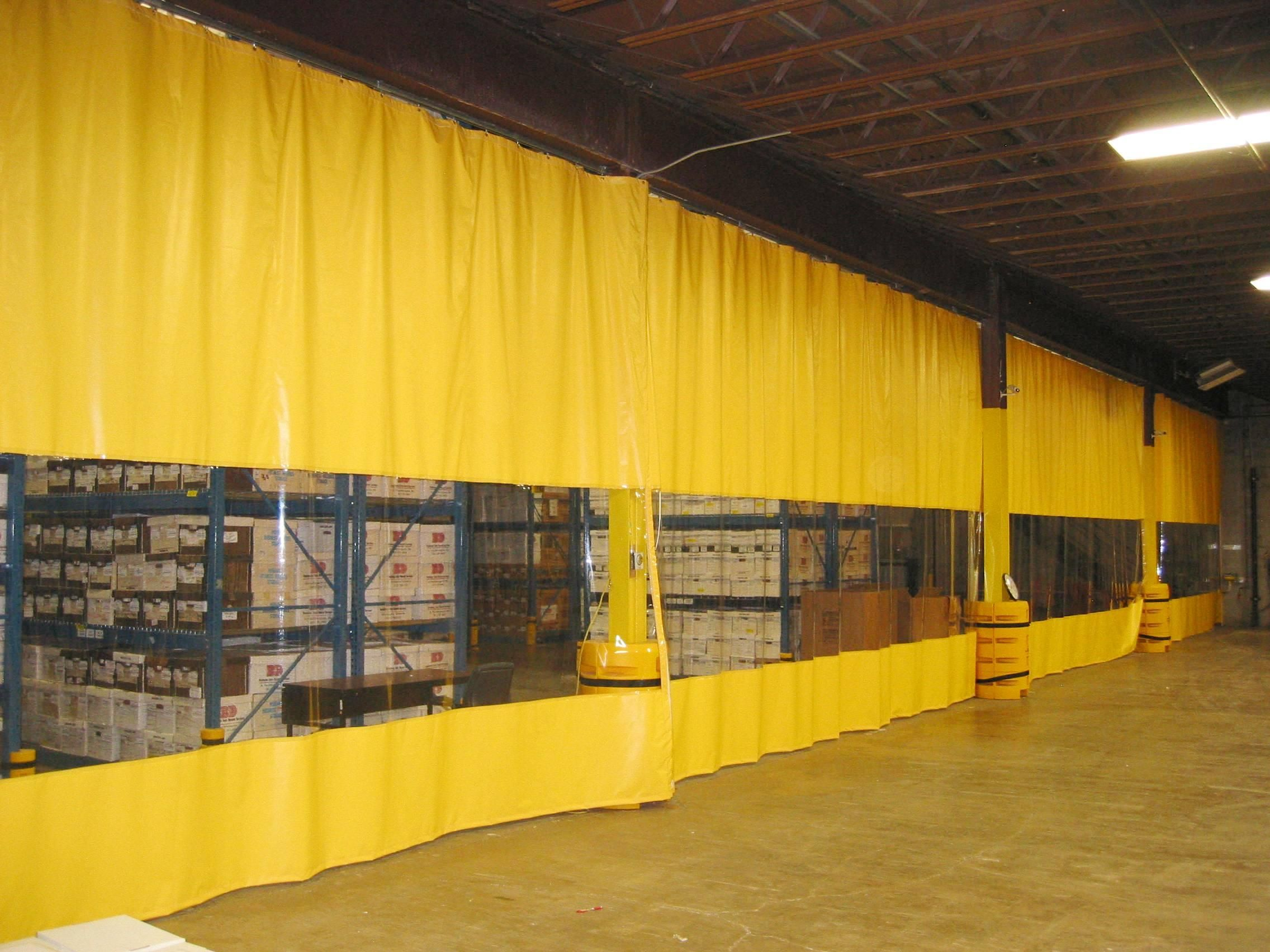 Full Warehouse Curtains Are Installed Inside This Manufacturing
