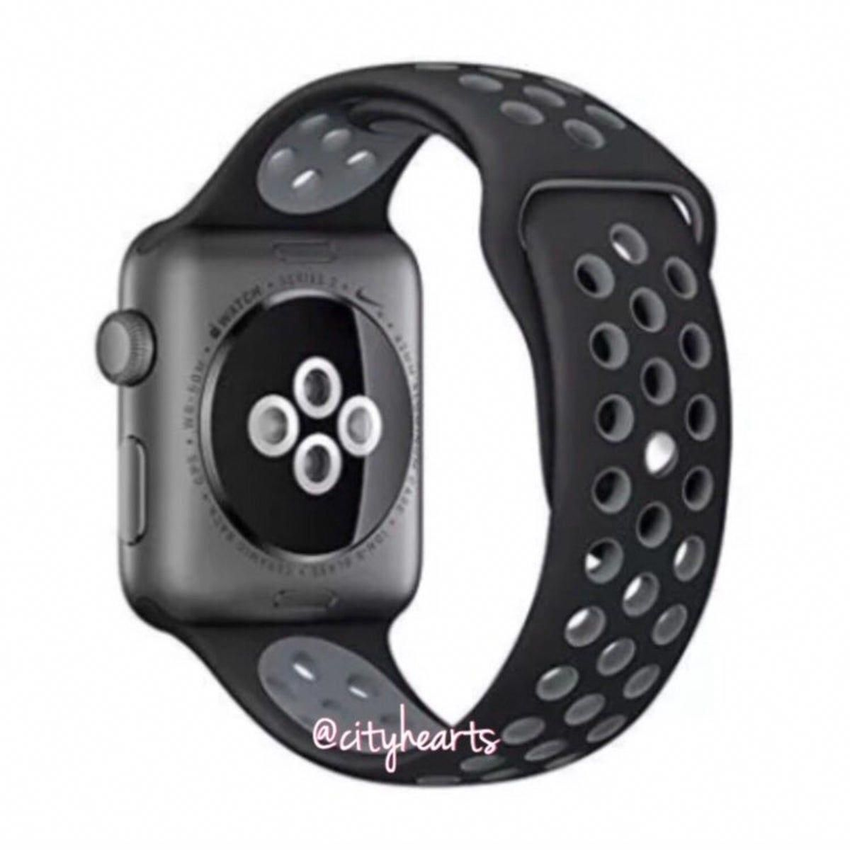 42/44 mm Black & Grey Apple Watch Band applewatches