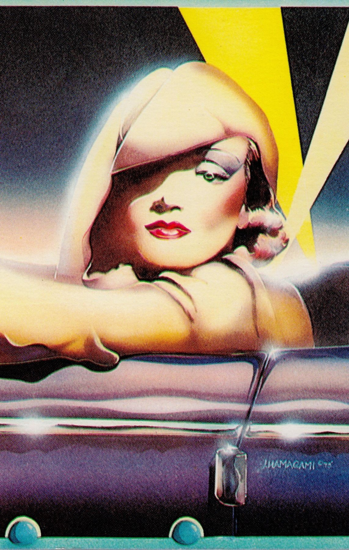 Marlene dietrich in desire 1936 illustration by john hamagami 1979 paper moon marlene dietrich in desire 1936 illustration by john hamagami 1979 greeting card kristyandbryce Image collections