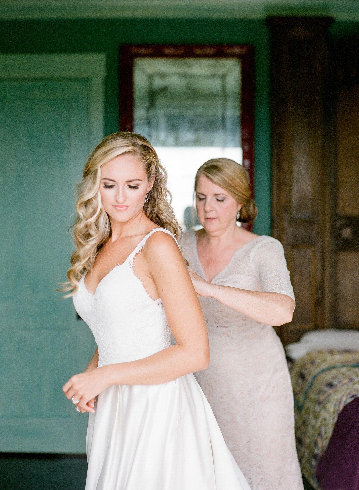 Trinity View Farm wedding Franklin, TN. Bride getting