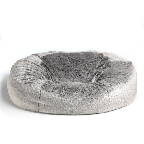 Cloud Giant Faux Fur 2 Seater Bean Bag Sofa Rosdorf Park Upholstery Colour:  Arctic Wolf Grey