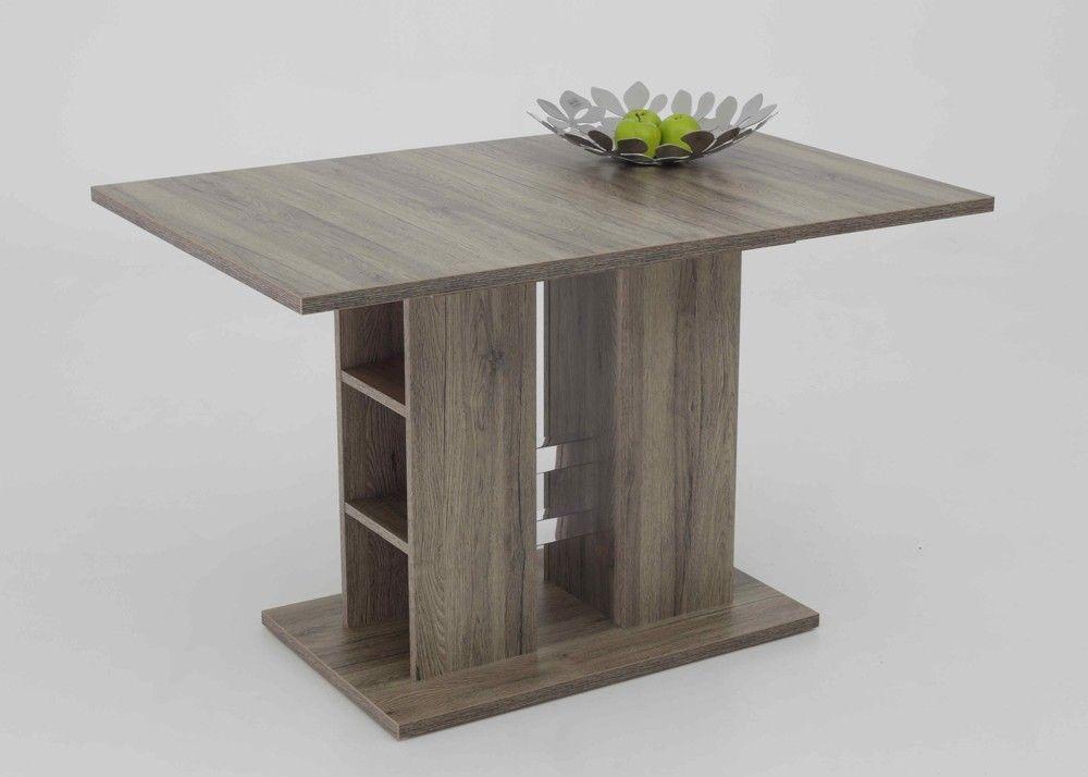 Esstisch Küchentisch Steffi San Remo Eiche Dunkel ausziehbar 1234 - küchentisch mit barhockern