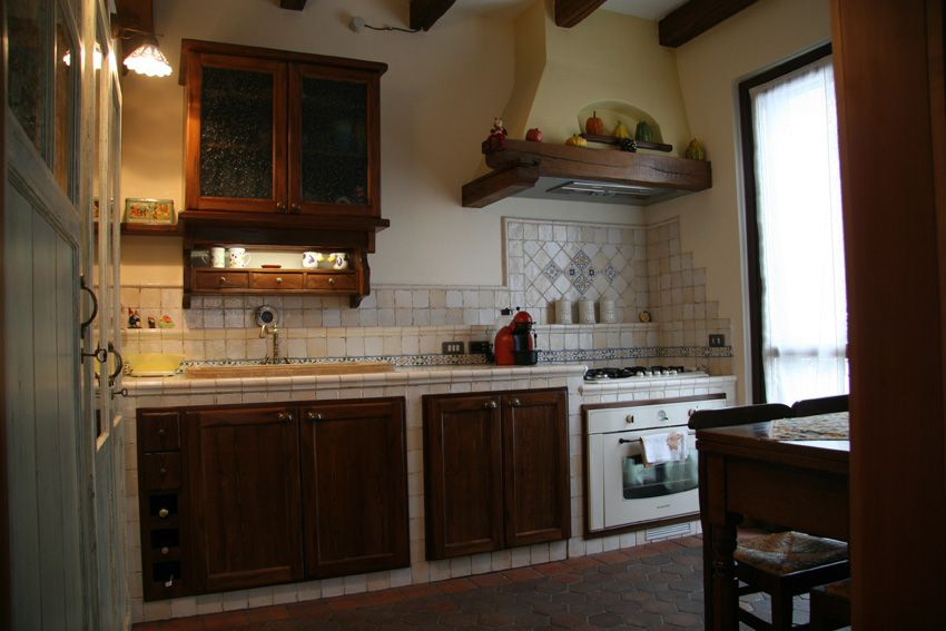 Cucina in muratura stile antico - Camini Fai da Te - Camini ...