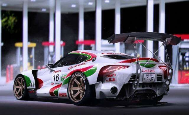 Artist Javier Oquendo Has Perfectly Rendered A Toyota Super GT Racecar With  Castrol Livery.