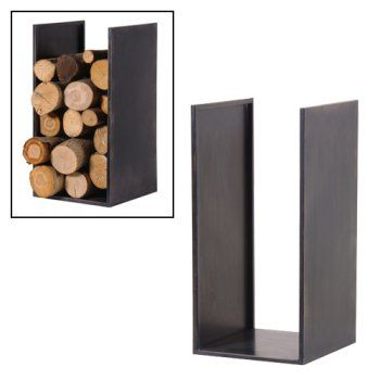 Solid Wood Log Holder Home Fireplace Pinterest Log Holder