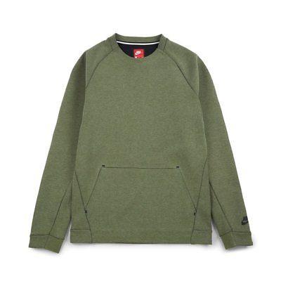 bbf8a84544e8 Men-039-s-NIKE-Sportswear-Tech-Fleece-Crew-Sweatshirt -Size-XXL-805140-387-Green