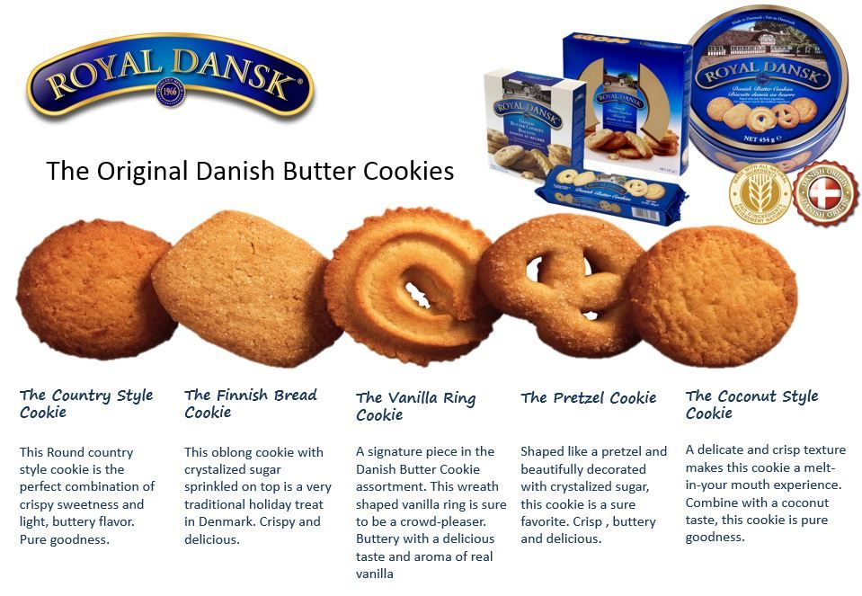 Here S What The Individual Danish Butter Cookies Are Actually Cal Danish Butter Cookies Danish Butter Cookies Recipe Royal Dansk Danish Butter Cookies Recipe