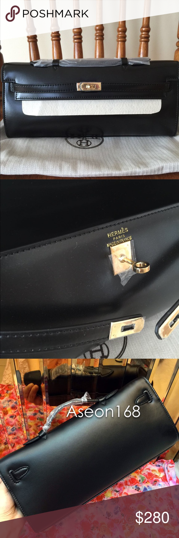 d96e177574e ... netherlands box leather kelly cut hand bag brand new. great leather  with dust bag hermes