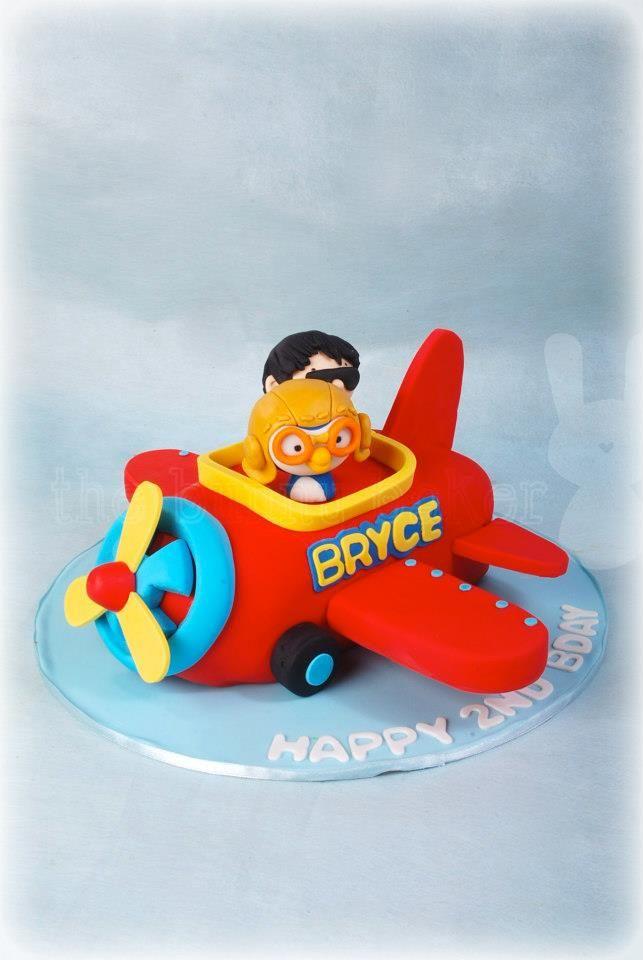 Pororo Airplaine Birthday Cake Birthday Cakes Birthday