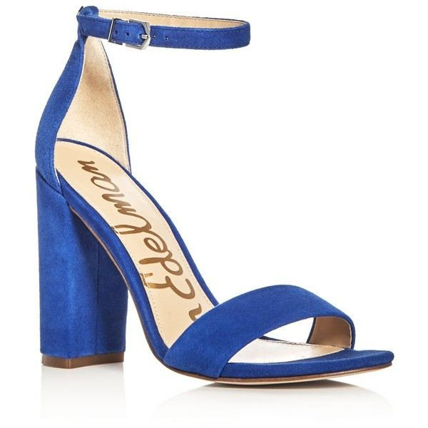 Sam Edelman Yaro Ankle Strap Block Heel Sandals ($76) ❤ liked on ...