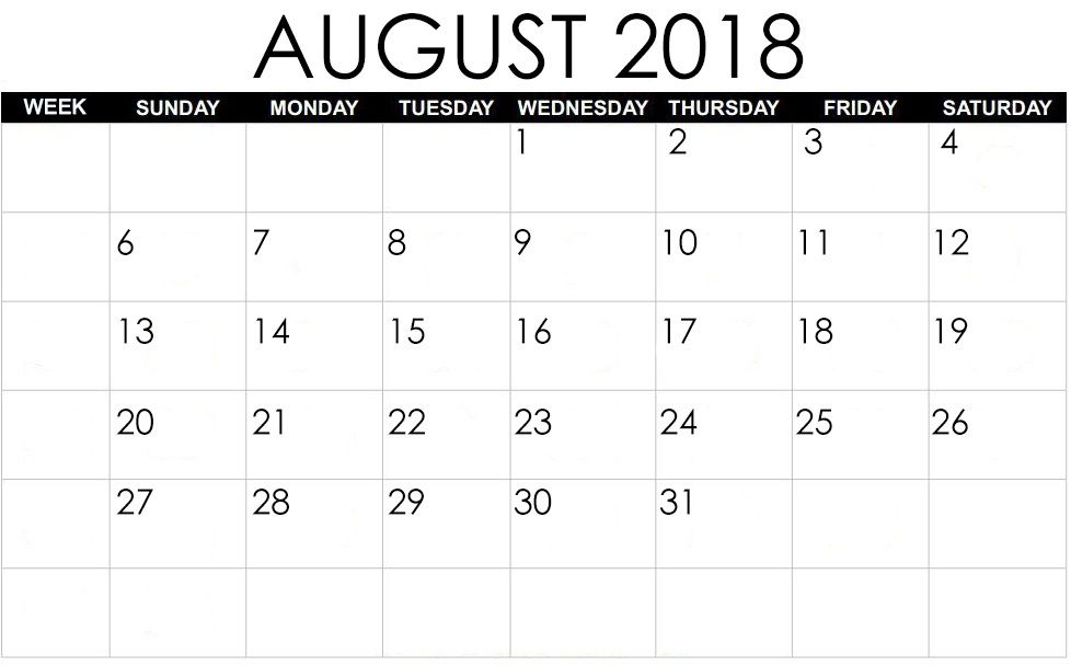Waterproof Calendar August 2021 Wallpaper