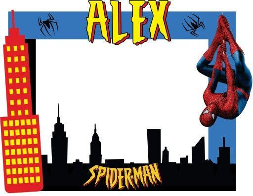 Marco para fotos Spiderman | Superheroes party | Pinterest | Fotos ...