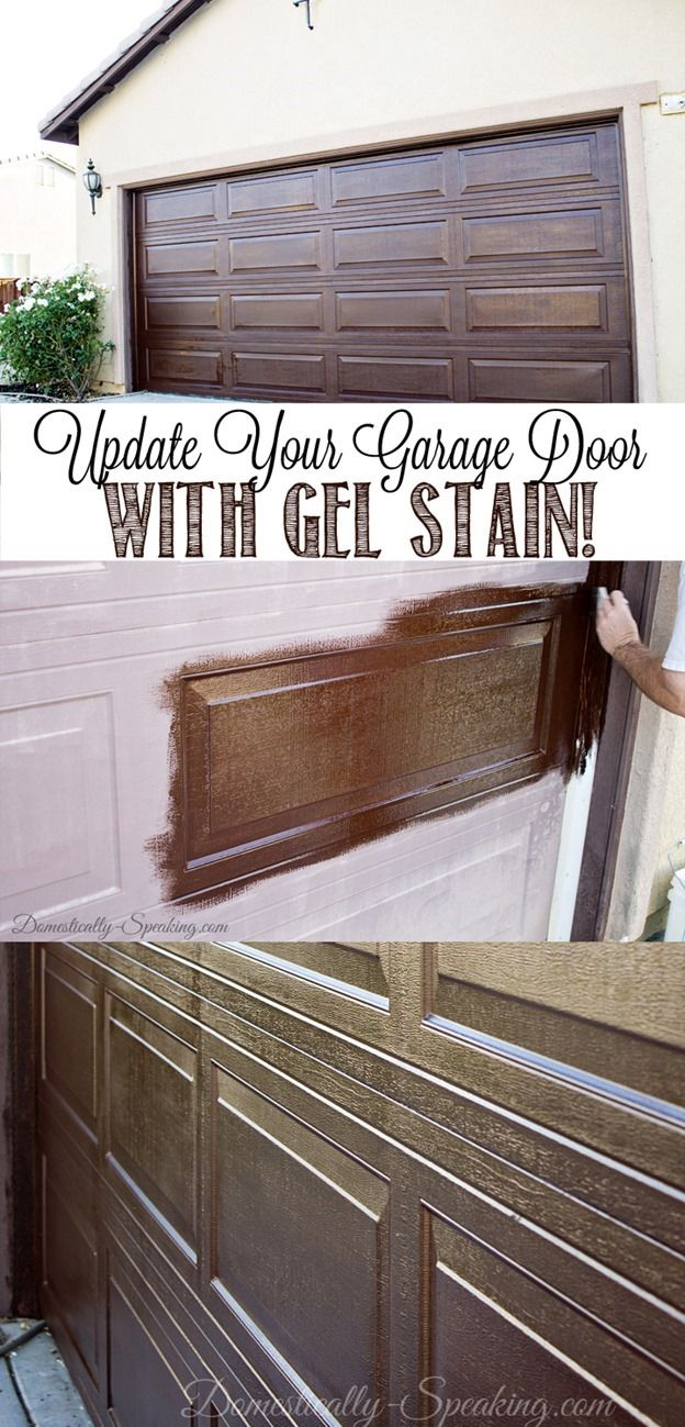 Garage Door Update With Stain Diy Ideas Garage Door Makeover