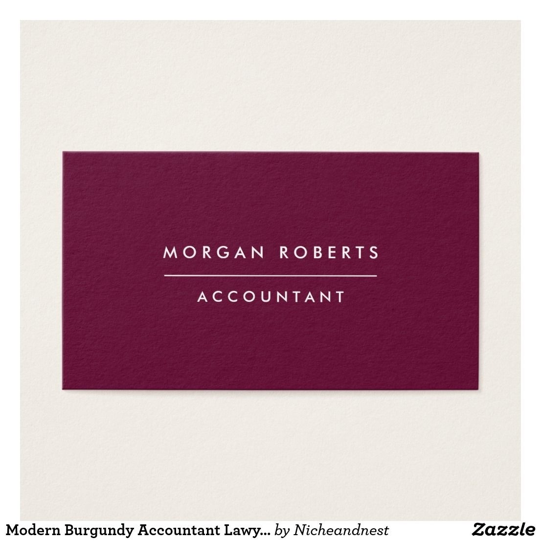 Modern Burgundy Accountant Lawyer or Professional Business Card ...