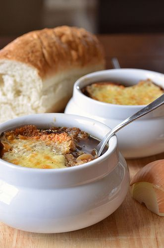 Guinness And Onion Soup With Irish Cheddar Crouton (1) From: Pennies On A Platter, please visit