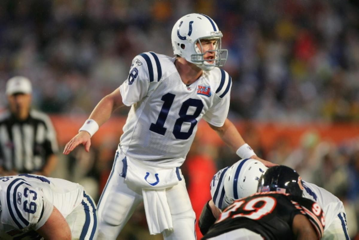 44c5ba18a QB Peyton Manning orchestrated a couple of comebacks for Indy during Super  Bowl XLI.