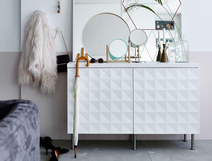 Flurschrank, bestehend aus zwei METOD Küchenschränken in Weiß mit - tür für küchenschrank