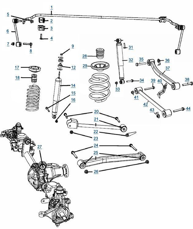 jeep wrangler jk suspension 2007 front suspensions parts diagram rh 4wheelparts com 2015 jeep