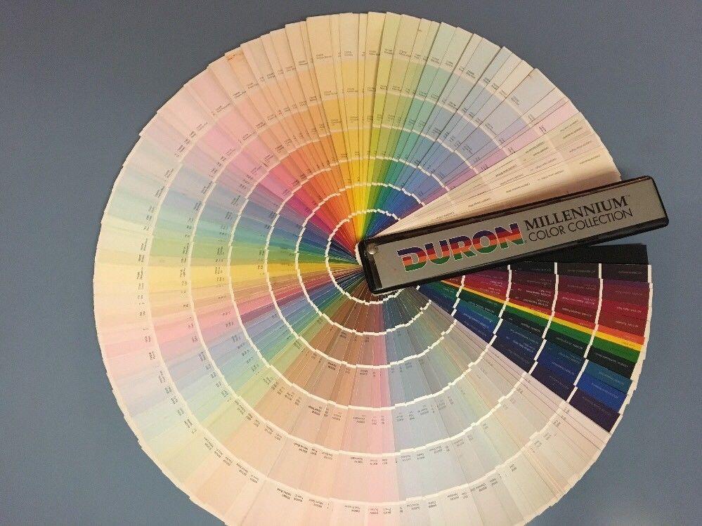 DURON Paint Color Chips Sample Swatch Book Architect Fan Deck