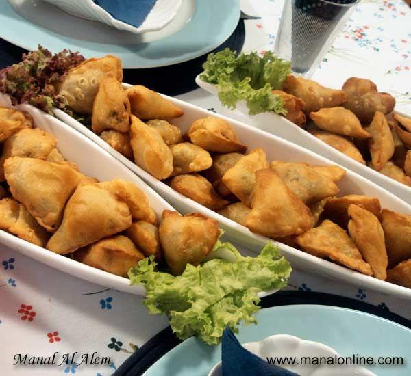 سمبوسك بعدة حشوات Egyptian Food Palestinian Food Mediterranean Recipes