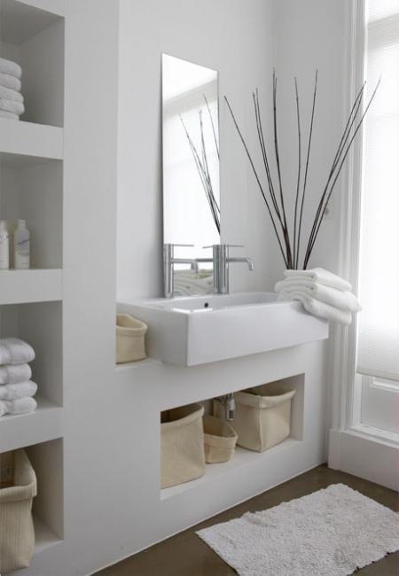 Weiss Magazin Leben Mit Stil Badezimmer Bathroom In 2019 Badezimmer Korbe Badezimmergestaltung Und Zeitgenossische Badezimmer