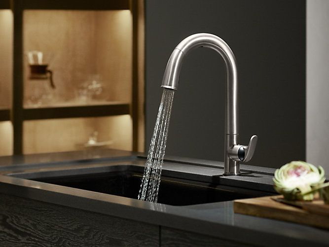 The K 72218 B7 Faucet Features Hands Free Activation Powerful
