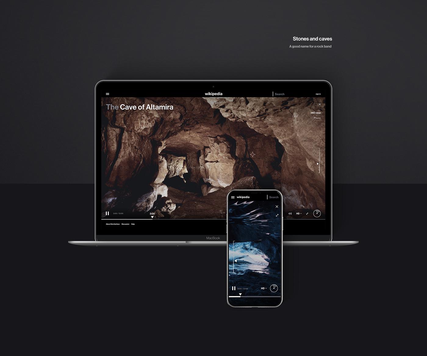 Minimalist Mobile And Desktop Web Design Concept For Wikipedia Web Design Minimal Website Design Concept Design
