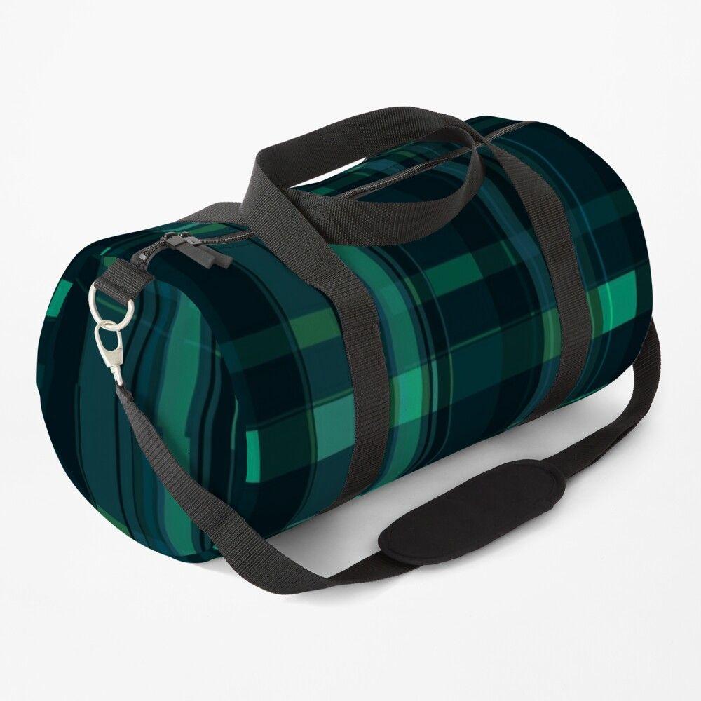Green Plaid Duffle Bag