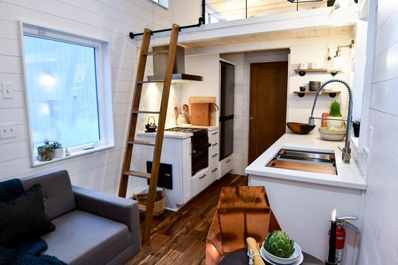 A Family Customizes An Off Gird Tiny Home With Online Design Tools Tinyhome Hometour Sustainable Energyefficient Kitchen