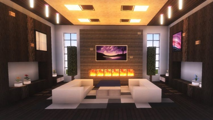 20 Living Room Ideas Designed In Minecraft Minecraft Interior Design Living Room In Minecraft Minecraft Modern