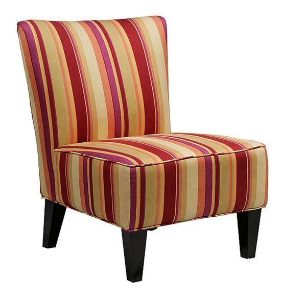 Red Striped Accent Chair Designer Accent Chairs Dining Chair