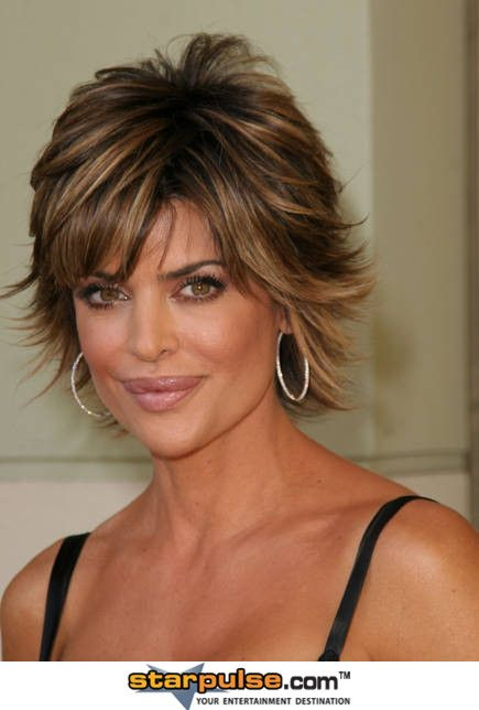 Lisa Rinna Short Hair Styles Short Thin Hair Short Dark Hair