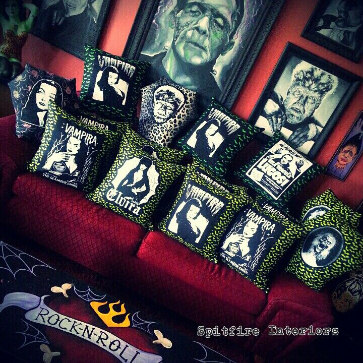 Ghastly Throw Pillows · Rockabilly DecorUnion ...