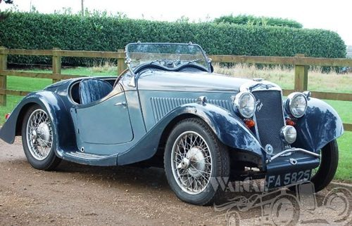 1935 Hillman Aerominx Roadster Streamline Open Two Seater Sold Or No Longer On The Market Prewarcar Classic Sports Cars Vintage Cars Classic Cars Vintage