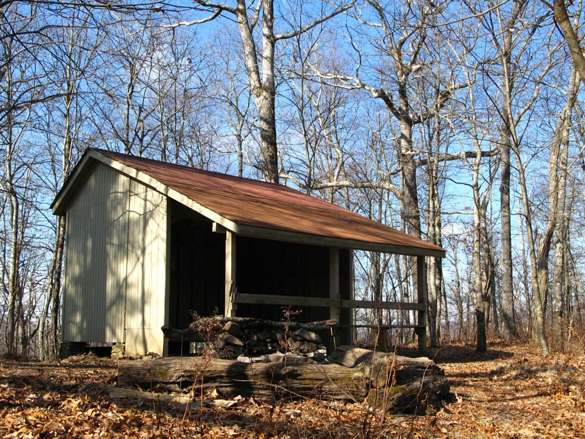 Blue Mountain Shelter On The Appalachian Trail In Georgia Photo