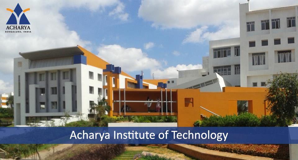 Acharya Institute Of Technology Institute Technology Karnataka