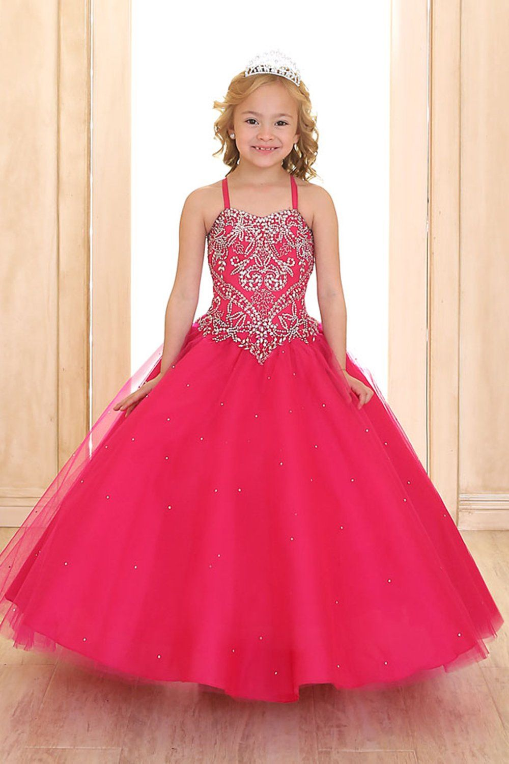 Fuchsia Princess Ball Gown Dress with Short Lovely Borelo Jacket ...
