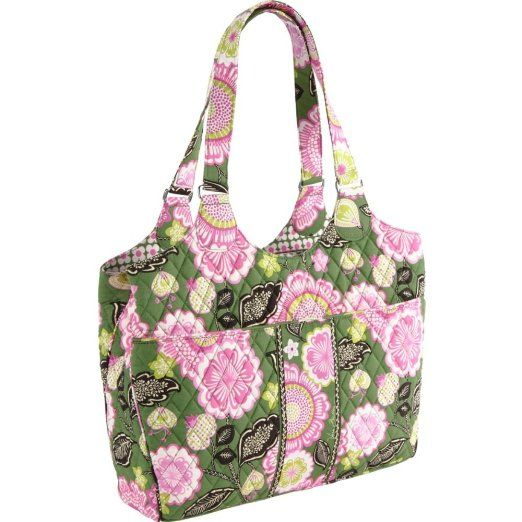 785fd3cd292c Vera Bradley Laptop Carryall (Olivia Pink). Padded back section sized to  fit most 15 laptops