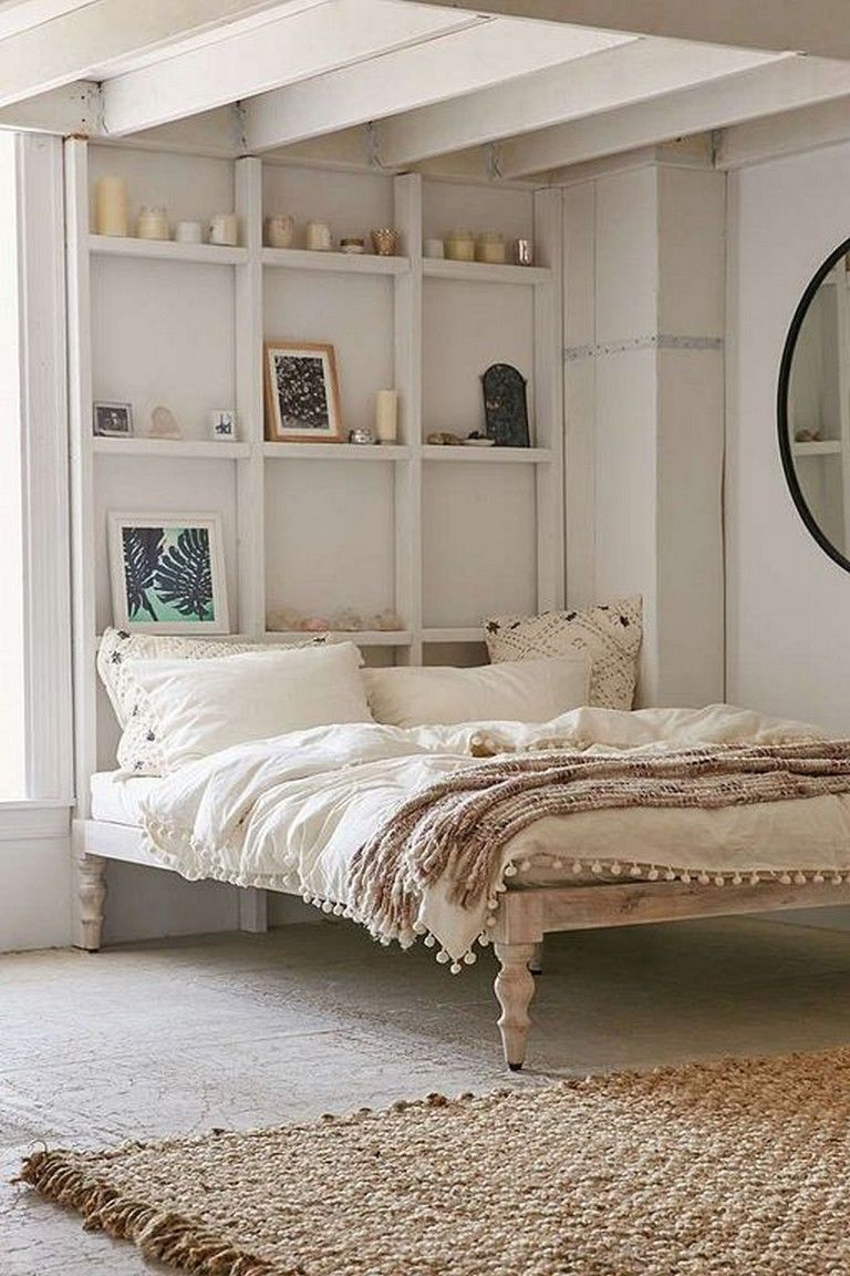 30 Comfy Chic Bohemian Platform Bed Design Ideas From Wood
