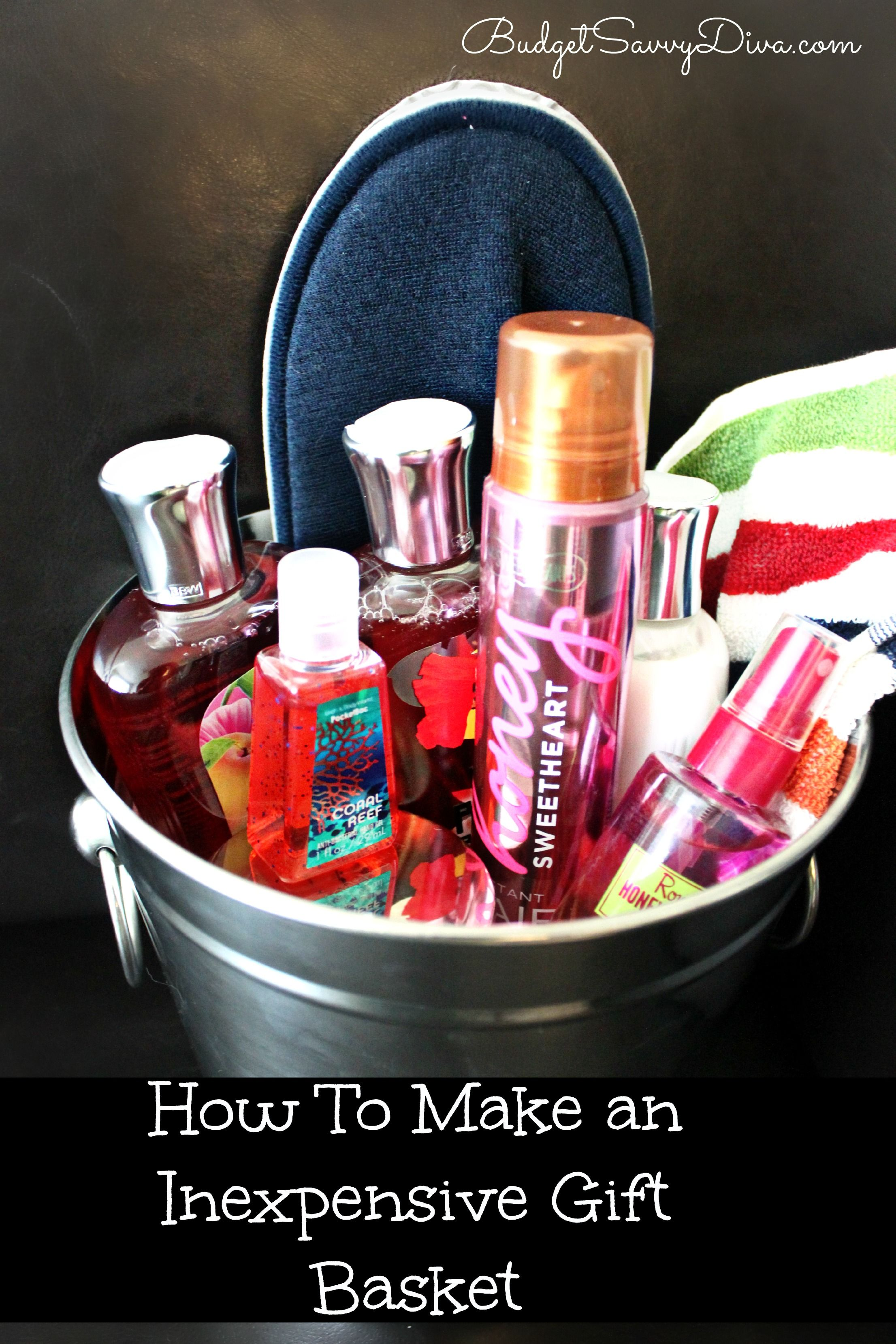 How to Make an Inexpensive Gift Basket | Diy gifts, Gift ...
