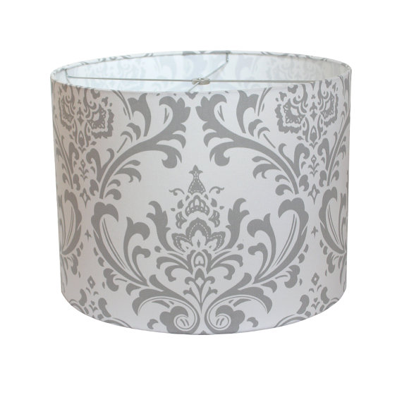 Silver Lamp Shades Endearing Lamp Shade Lampshade Traditionspremier Prints Storm Gray Grey Review
